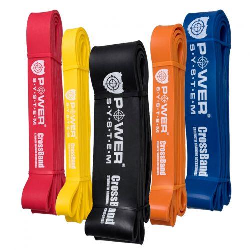 Power System Posilovací guma Cross Band - Černá